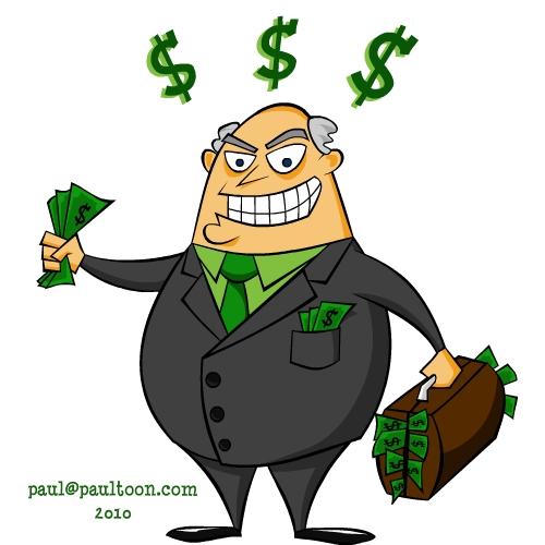 Greedy Businessman Clipart.