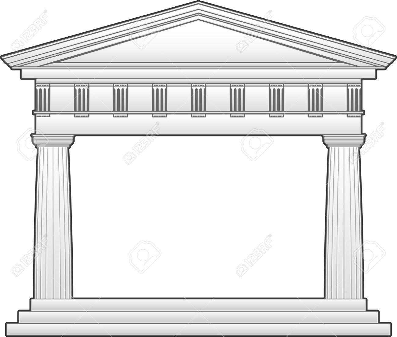 Temple clipart greek building #2.