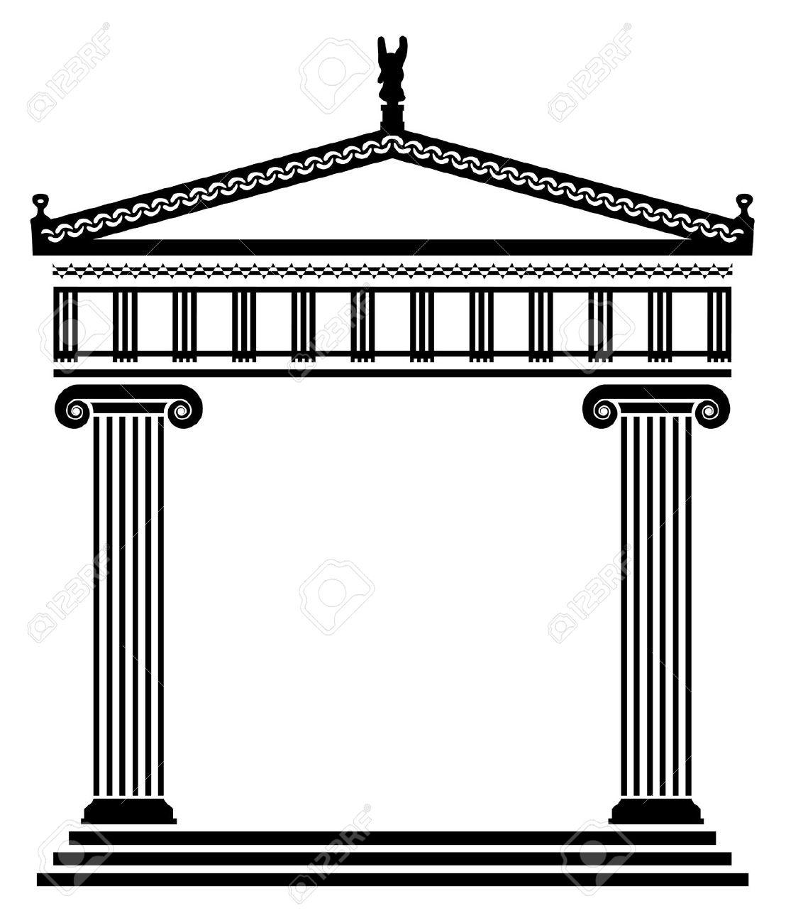 Greek architecture clipart.