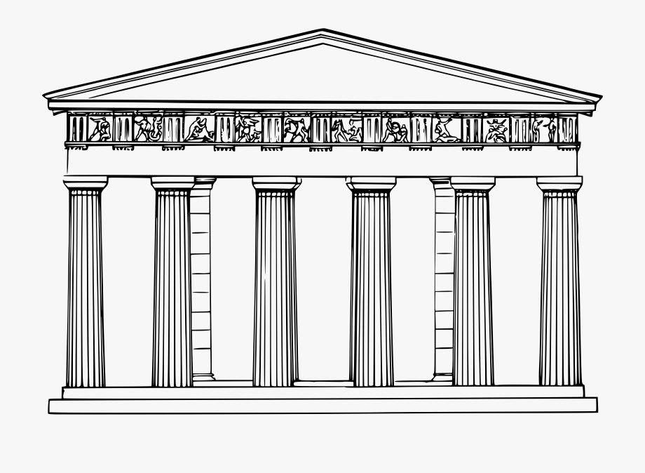 Ancient Greek Temples Drawing, Cliparts & Cartoons.