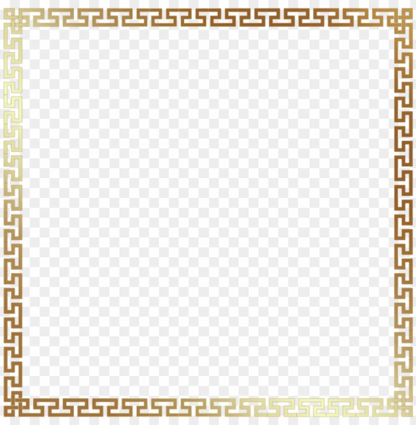 Download greek style border frame transparent clipart png.