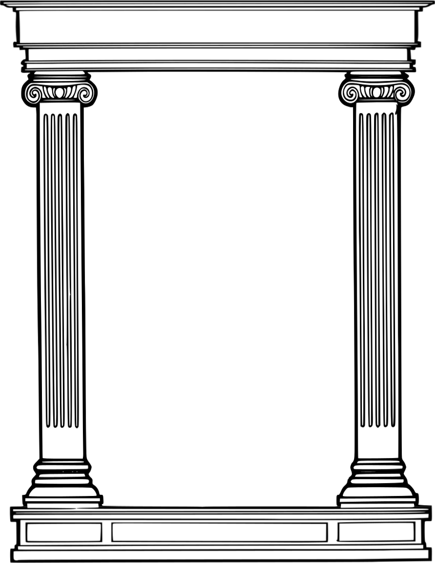 Abstract Column Cliparts.