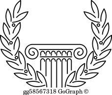 Greek Column Clip Art.