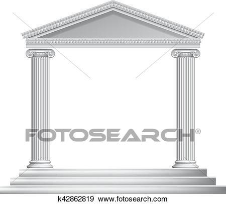 Greek Column Temple Clip Art.