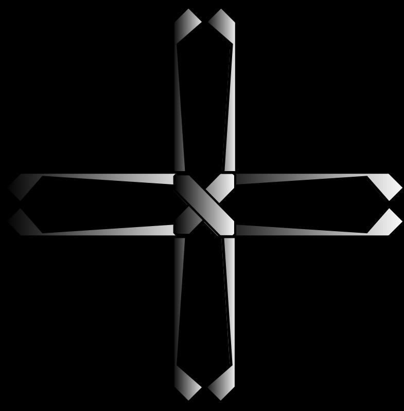Free Clipart: Holy steel greek cross.
