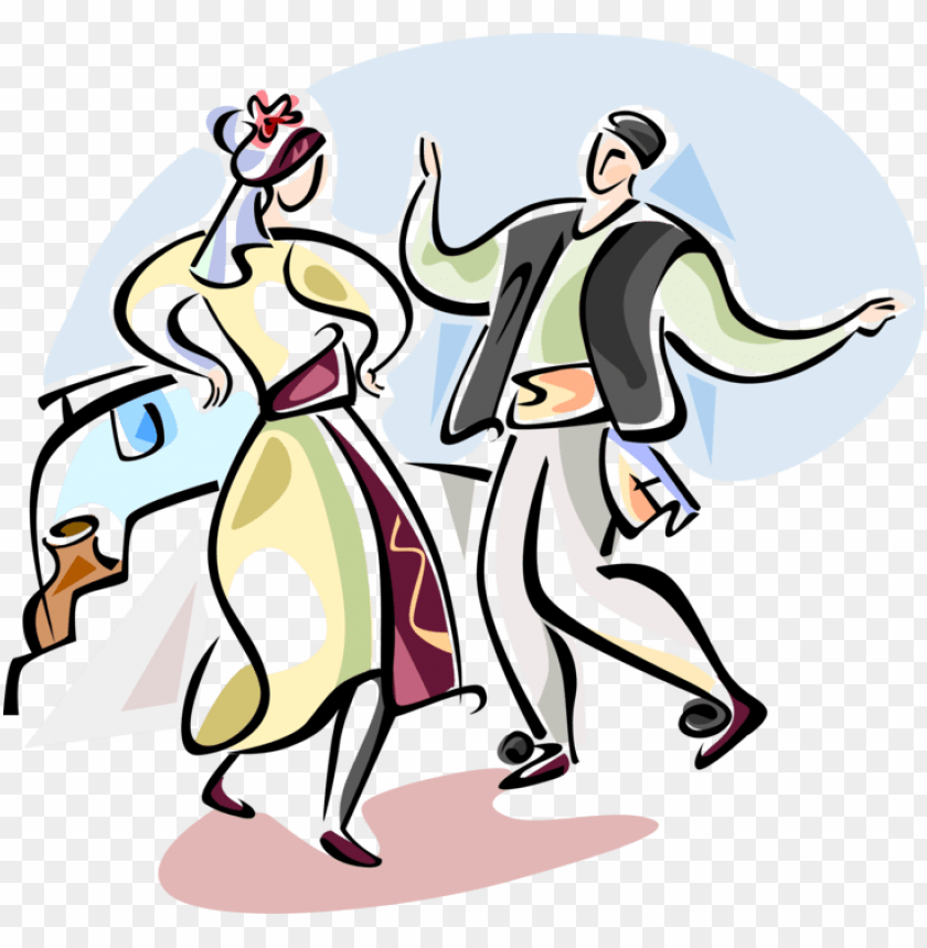 traditional greek dancing royalty free vector clip.