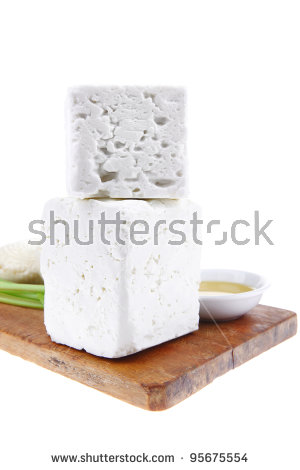Dairy Product Raw Soft Mediterranean Feta Stock Photo 90883907.
