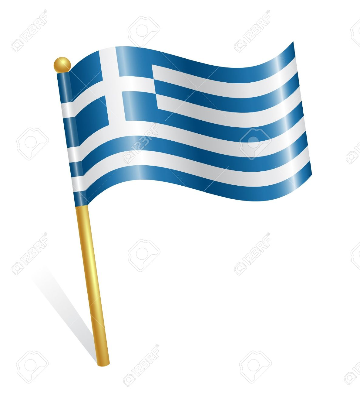 Greece Country Flag Royalty Free Cliparts, Vectors, And Stock.