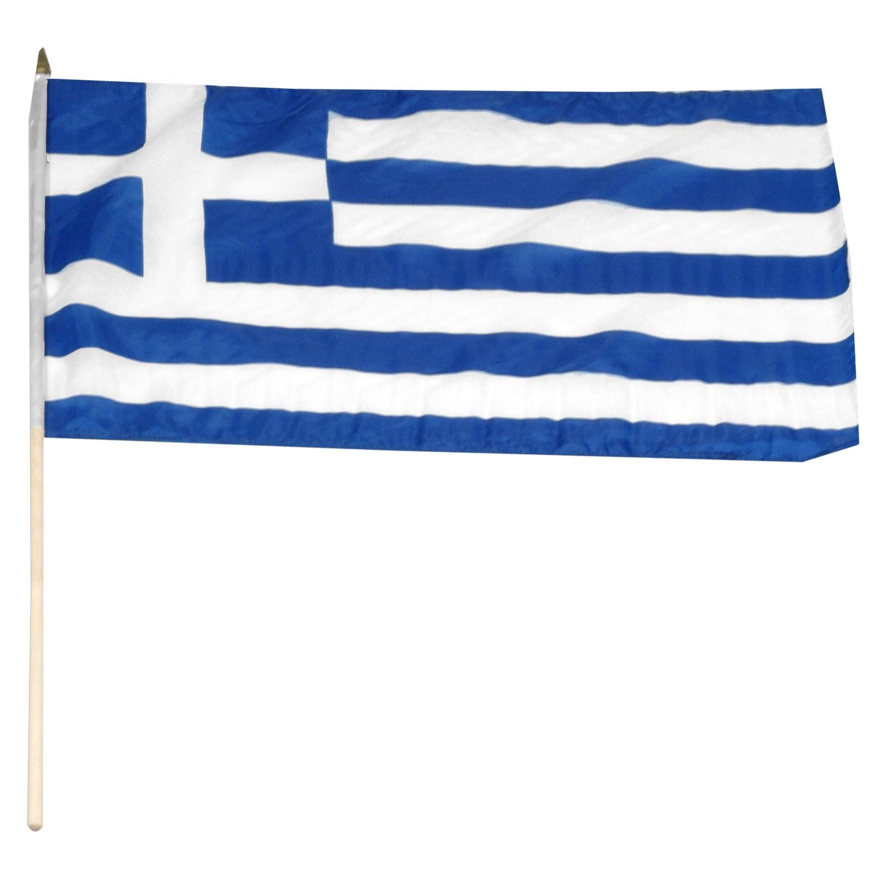 Waving Greek Flag.
