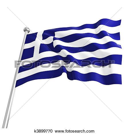 Clip Art of Greek flag k0661272.