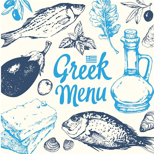 Best Greek Food Illustrations, Royalty.