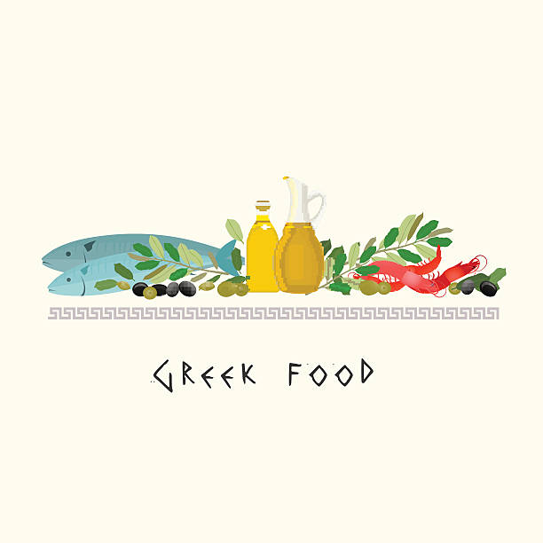Best Greek Food Illustrations, Royalty.