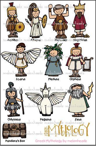 Greek Mythology clip art.