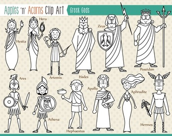 Greek Gods Clip Art.