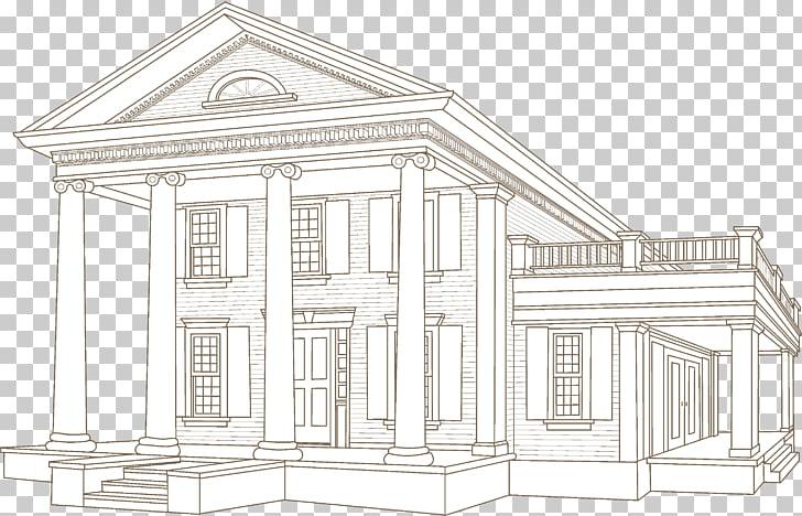 Architecture Building Facade House, greek column PNG clipart.
