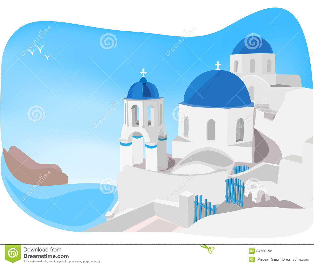 Greece beach clipart.