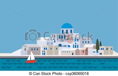 Greek island Vector Clipart Royalty Free. 533 Greek island clip.