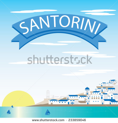 Santorini Greece Stock Vectors, Images & Vector Art.