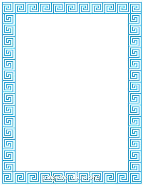 Greek Key Border: Clip Art, Page Border, and Vector Graphics.
