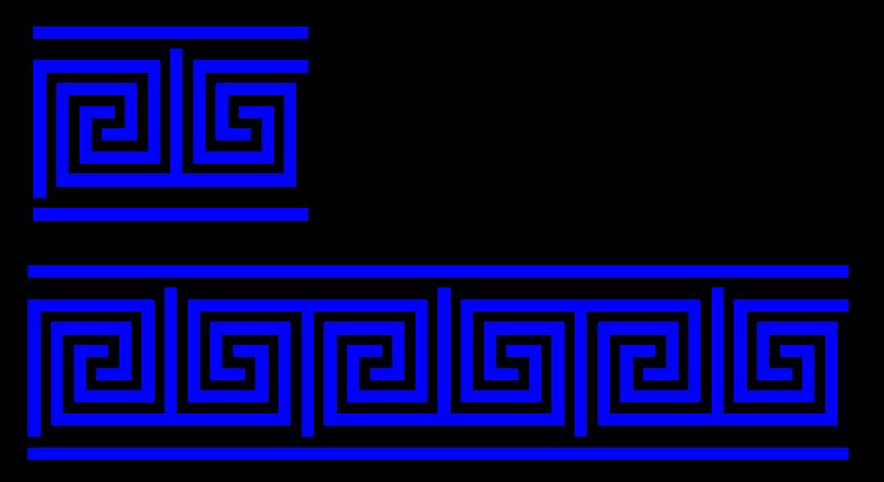 Free Clipart: Greek key T shape/4 turns/meander/lines.