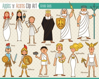 Greek mythology clipart.
