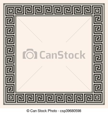 EPS Vectors of Greek style seamless ornament with corner element.