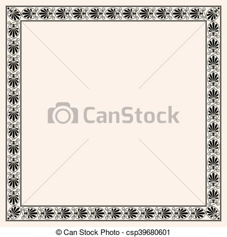 Vector Clipart of Greek style seamless ornament with corner.