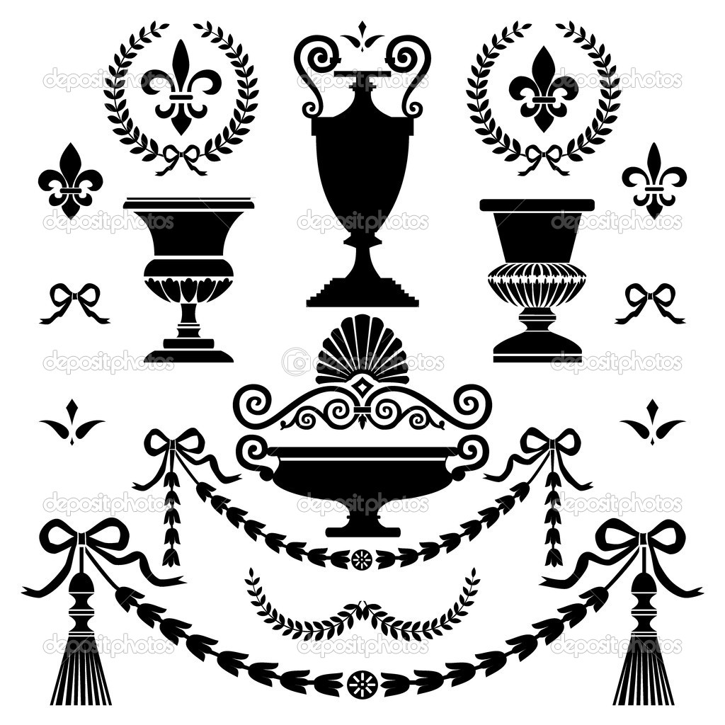 Classic style design elements — Stock Vector © ElaKwasniewski #4288814.