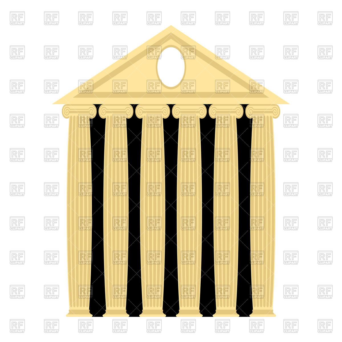 Ancient greek temple Stock Vector Image.