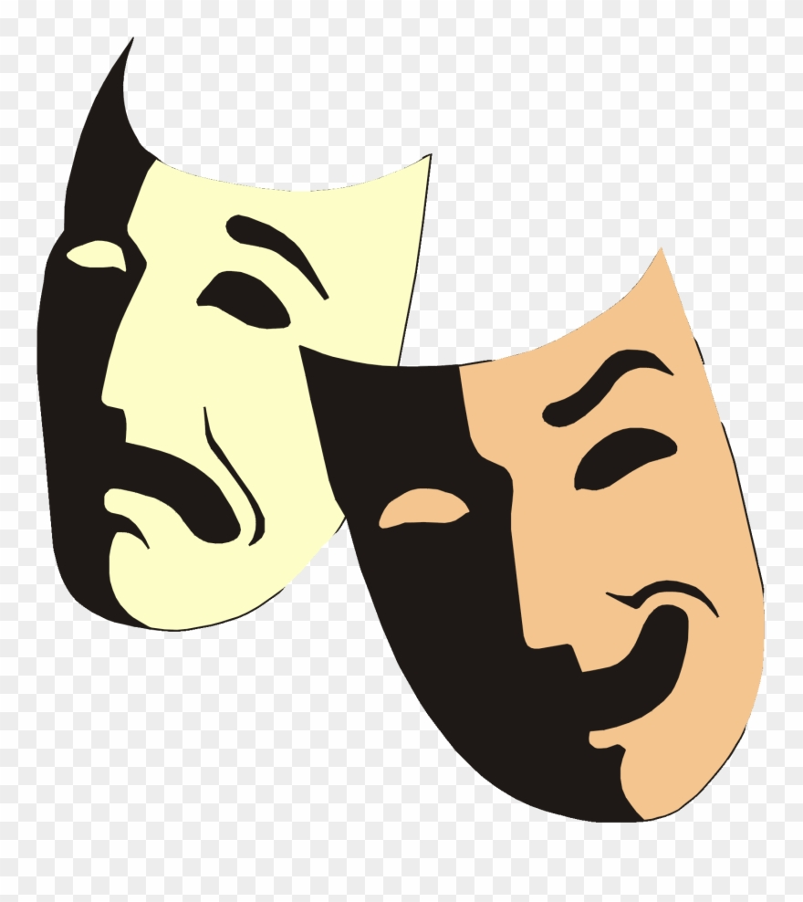 Yükle Greek Theater Mask Facts Entertainment Guide Clipart.