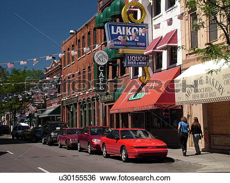 Stock Images of Detroit, MI, Michigan, Motor City, Downtown.