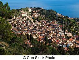 Stock Photo of Taormina Sicily.