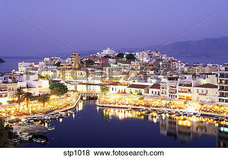 Pictures of Seaside Greek town of Agios Nikolaos on eastern Crete.