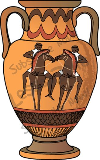 Greek Vases Clipart.