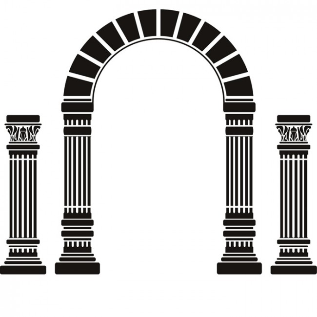 Arch And Columns Wall Sticker Greek Art