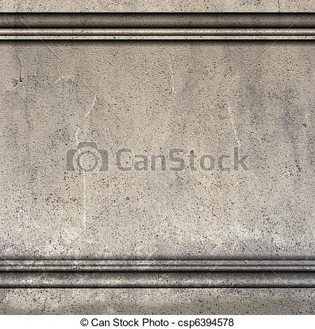 Stock Illustration of 3d render antique Greek Roman wall with.
