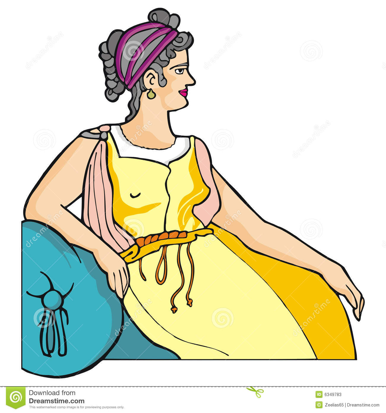Greek Woman Stock Photos.
