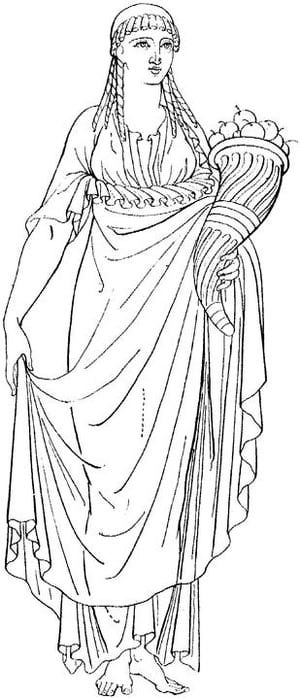 Greek Woman Gods Clipart.