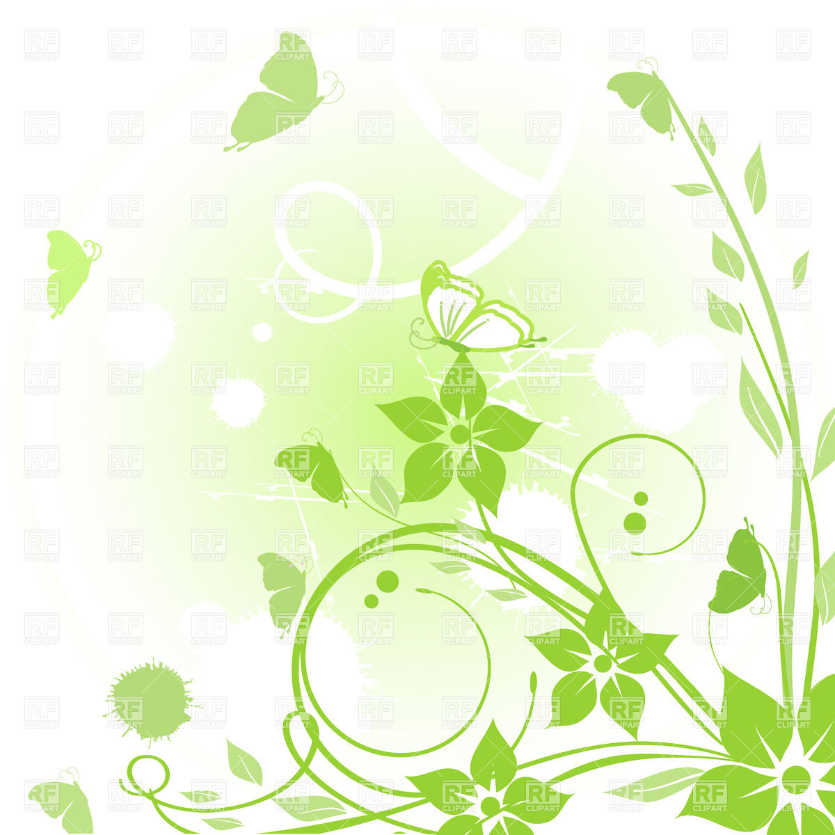 Free green abstract clipart.