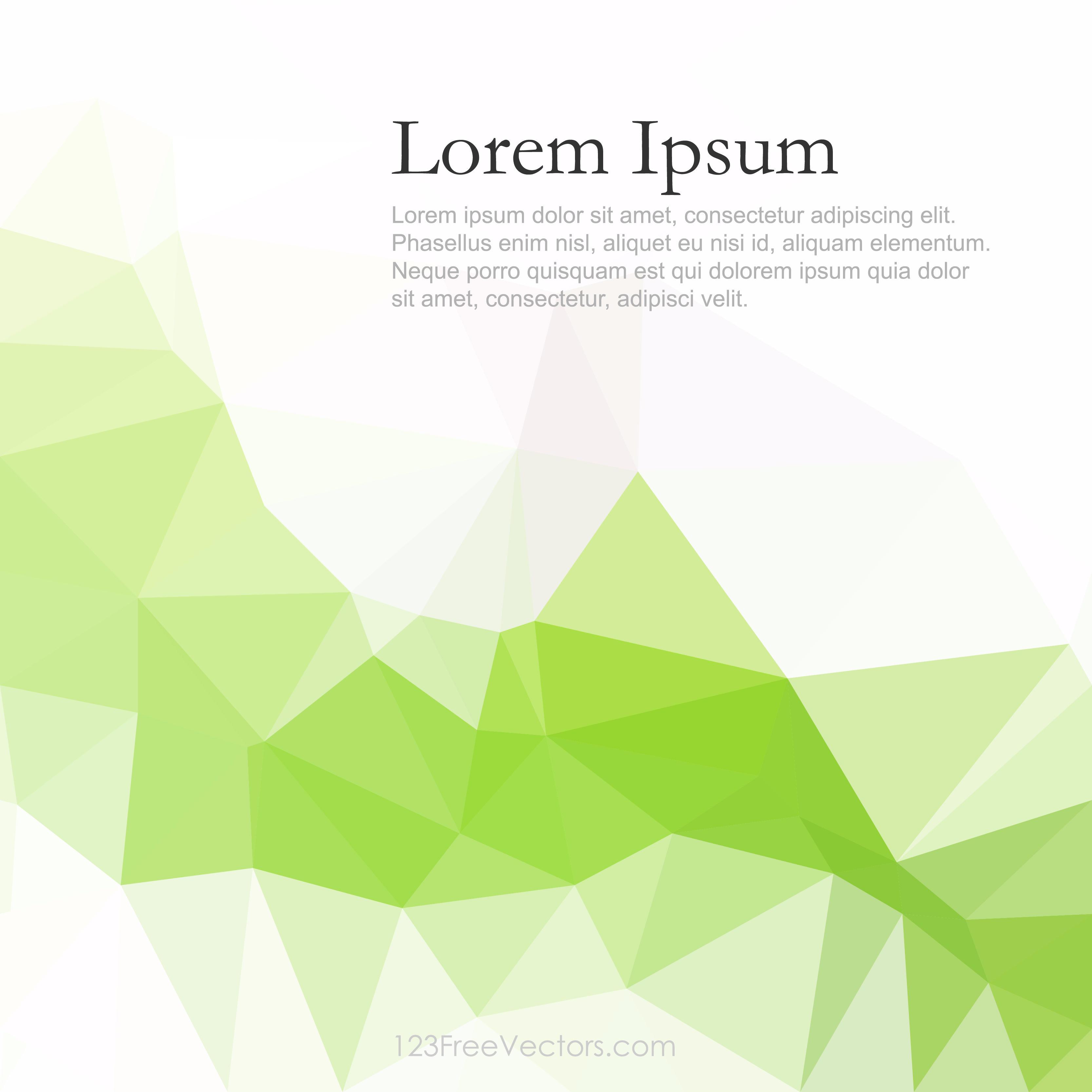 Light Green Abstract Polygonal Background Clip Art.