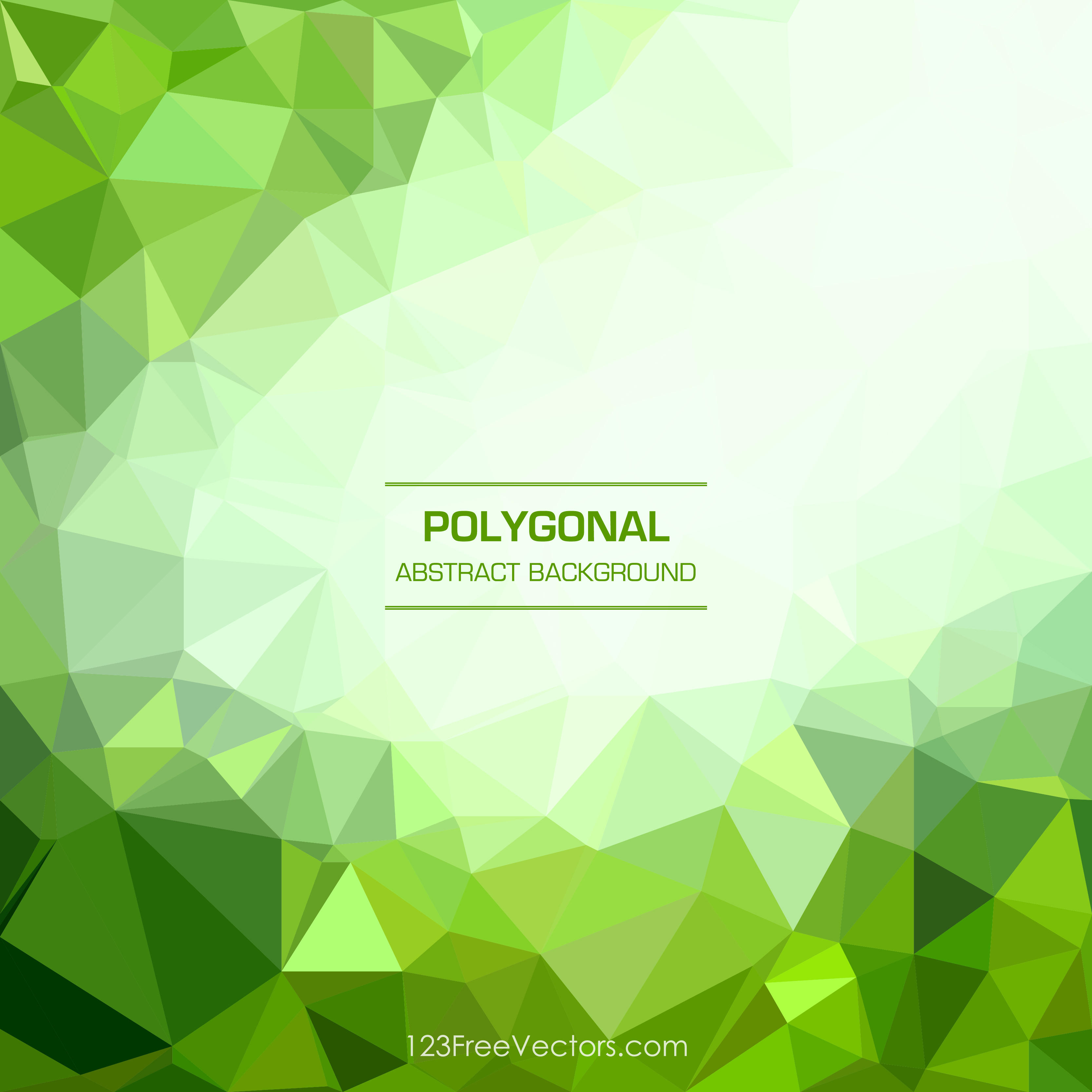 Green Abstract Geometric Polygon Background Clip Art.