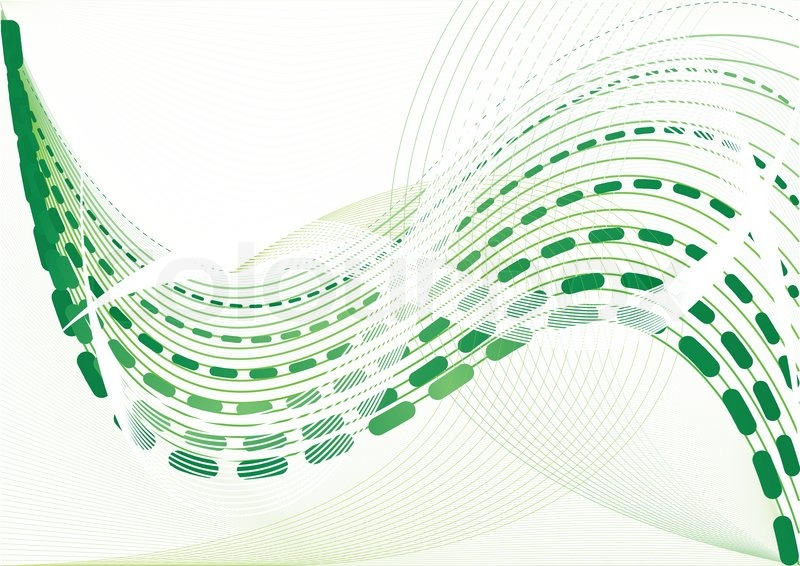 Vector abstract green background clip.