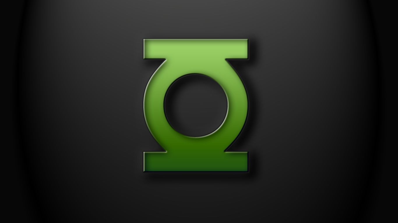 green lantern logo on black.