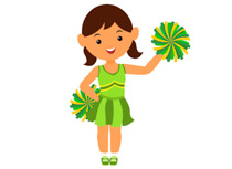 Cheerleading clipart green, Cheerleading green Transparent.