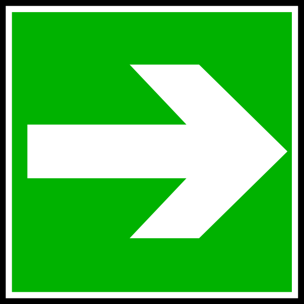 White Arrow In A Green Rectangle Clip Art at Clker.com.