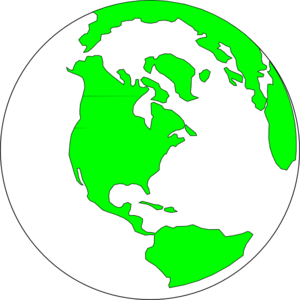 Earth With White And Green Clip Art at Clker.com.