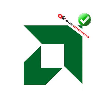 Green and white arrow Logos.