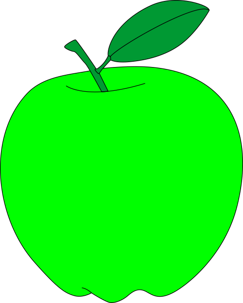 Green apple free vector clipart.