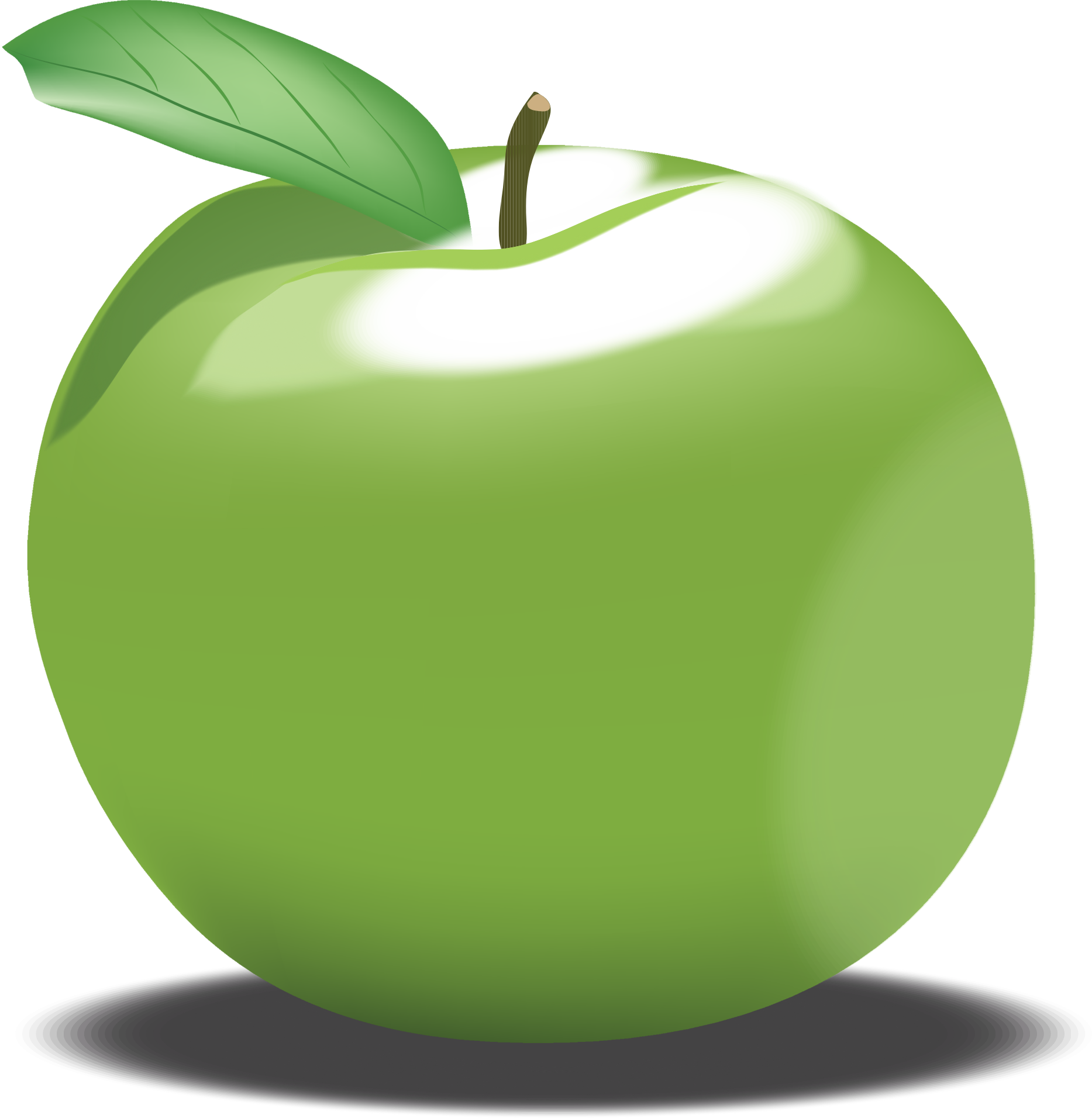 Clipart of green apple.