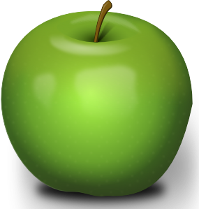 Photorealistic Green Apple clip art Free Vector / 4Vector.